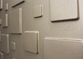 3d wall panels, metallic coating