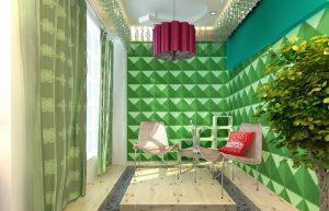 Green 3D-wall panels