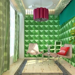 Green 3D-wall panels