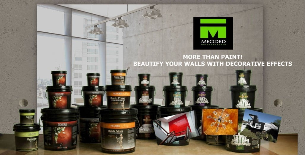 Meoded Paint and Plaster products