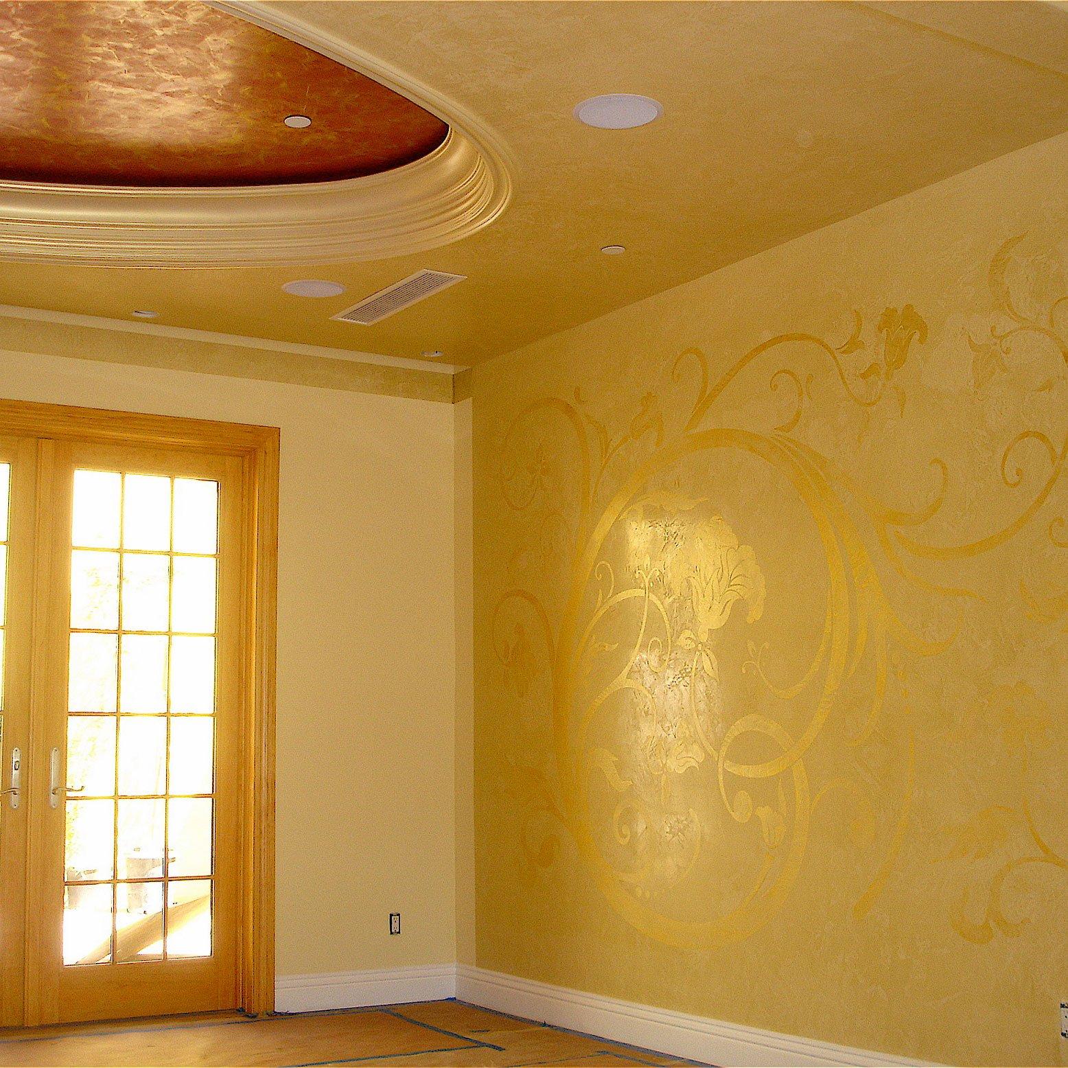 Stucco Lamundo Venetian Plaster with Metallic Wax   Meoded Paint ...