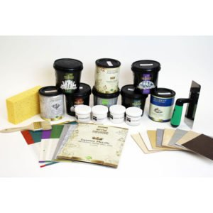 Decorative Paint and Plaster Trial Kit with Tools, Meoded Paint & Plaster