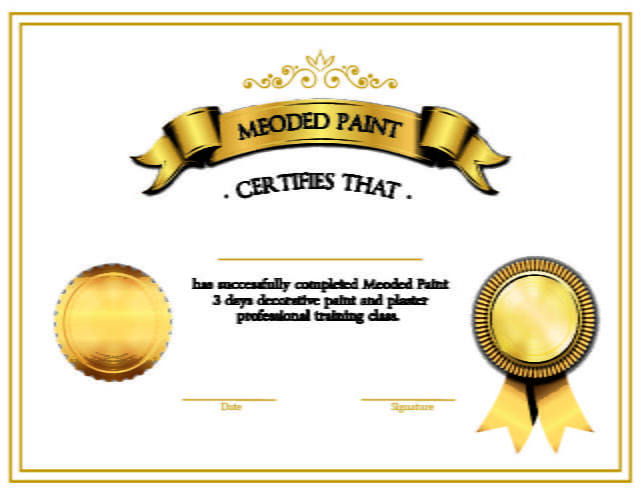 Decorative Paint and Plaster Course Certification