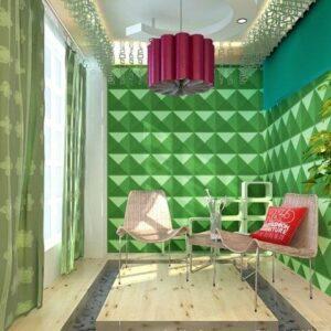 Green 3D Wall Panels