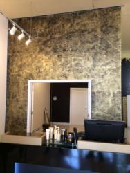 Stucco Lamundo Venetian Plaster with Metallic Wax, Meoded Paint & Plaster